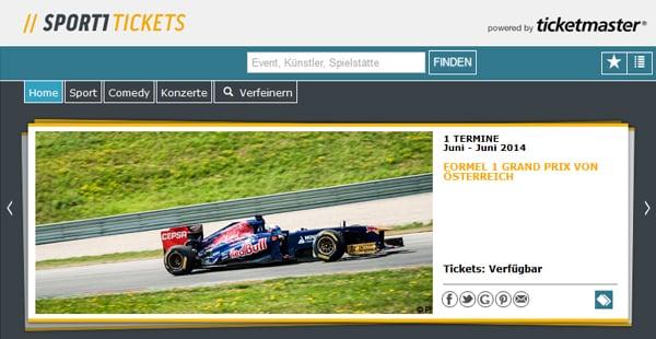 Sport1 Ticketshop von Ticketmaster